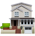 A multi-story house vector image vector image