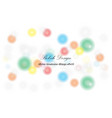 abstract background circle light bokeh for vector image vector image