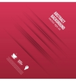 abstract background Lines shadow and red vector image