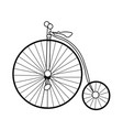 abstract old bike vector image vector image