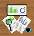 analytics and statistics vector image vector image