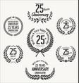 anniversary laurel wreath 25 years vector image vector image