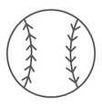 baseball ball thin line icon game and sport vector image