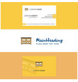 beautiful cupboard logo and business card vector image vector image