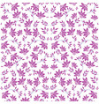 beautiful seamless damask floral pattern vector image