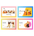 brazil carnival dancer landing page set latino vector image vector image