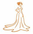 bridal wear beauty boutique wedding logo vector image vector image