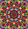 bright seamless kaleidoscope pattern vector image vector image