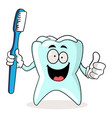 brush your teeth vector image vector image