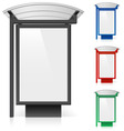 bus shelter billboard vector image