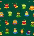 cartoon vegetables and fruit superhero characters vector image