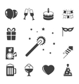 Celebration iconset contrast flat vector image vector image