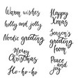 christmas calligraphy phrases hand drawn design vector image