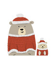 christmas card with santa bears vector image