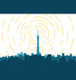 city tv tower vector image