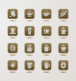 Coffee cup icons set vector image vector image