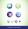Colored alphabet letter set vector image vector image