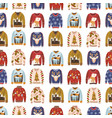 colorful comfortable knitted winter ugly sweaters vector image vector image