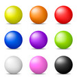 colorful realistic 3d spheres isolated on white vector image