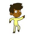 comic cartoon pointing boy vector image vector image