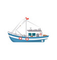 commercial fishing boat side view icon vector image vector image