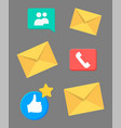 contact information icons for business card vector image