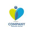 creative human heart colorful logo concept vector image vector image
