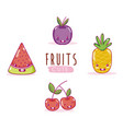 Cute fruits kawaii cartoons