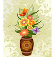 decorative flower in a vase vector image vector image