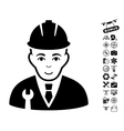 Developer Icon With Air Drone Tools Bonus vector image