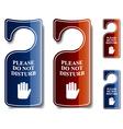 do not disturb door hangers vector image vector image