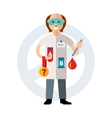 Doping test Flat style colorful Cartoon vector image vector image