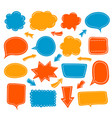 empty speech balloon collection vector image