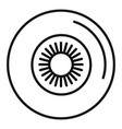 eye ball icon outline style vector image