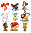 fairy tale icons vector image