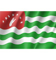 flag of republic of abkhazia vector image vector image