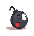 flat design of bomb emoji face with vector image