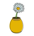 flower in vase icon image vector image