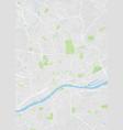 frankfurt am main colored map vector image vector image