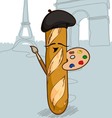 French Bread vector image vector image