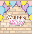 garden party card vector image vector image