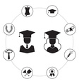 Graduation Icon Set Infographic vector image vector image