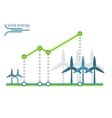 green energy diagram wind turbines vector image