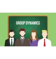 group dynamics concept in a team with vector image vector image