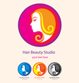 Hair beauty studio vector image vector image
