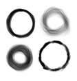 Hand drawn painted grunge circles design el vector image