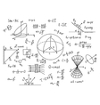 Hand drawn physics formulas Science knowledge vector image vector image
