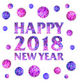 happy new year 2018 mosaic text with mosaic balls vector image vector image