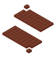 isometric chocolate bars vector image