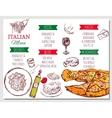 Italian Restaurant Menu vector image vector image